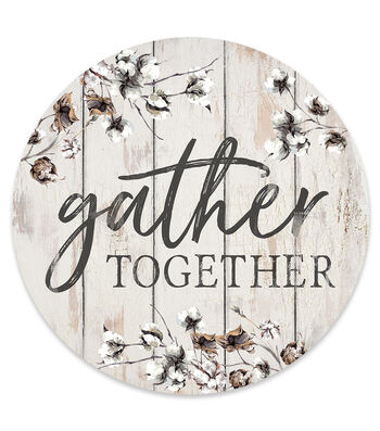 Hello Spring Round Wall Decor-Gather Together
