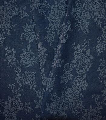 """Sportswear Denim Fabric 57""""-Floral"""