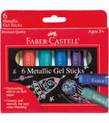 Faber-Castell® 6 pk Gel Sticks-Metallic