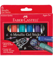 Faber-Castell® 6 pk Gel Sticks-Metallic, , hi-res