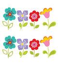 Wall Pops Petals Flowers Wall Decal Kit, 16 Piece Set