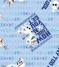 Disney® Frozen Fleece Fabric 59\u0022-How Cool Can You Get