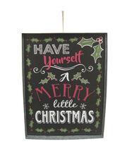 Maker's Holiday Christmas Wall Decor-Merry Christmas on Black, , hi-res