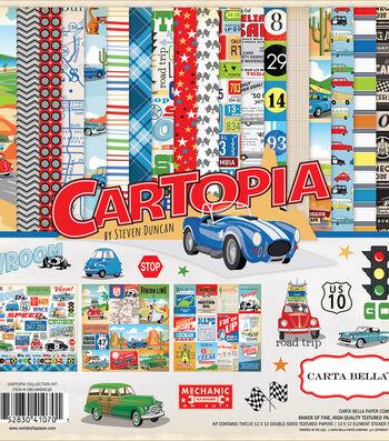 "Carta Bella Collection Kit 12""X12""-Cartopia"