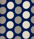 Extra Wide Premium Fleece Fabric- Dots On Nautical Blue Premium