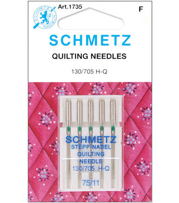 Quilt Machine Needles 5/Pkg-Size 11/75