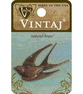 Vintaj Diving Sparrow 41x18mm Natural Brass