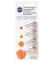 Wilton® 4pc Left-Handed Flower Decorating Tip Set, , hi-res