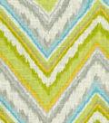 Home Decor 8\u0022x8\u0022 Fabric Swatch-Dena Chevron Charade Citrus