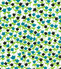 Quilter\u0027s Showcase™ Fabric 43\u0027\u0027-Capri Breeze & Black Ditsy Floral