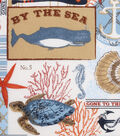 Novelty Cotton Fabric 43\u0022-By The Sea Patch