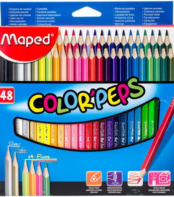 Color'Peps Triangular Colored Pencils-Assorted