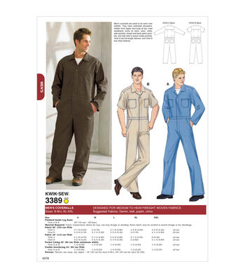 Kwik Sew Mens Casual-K3389