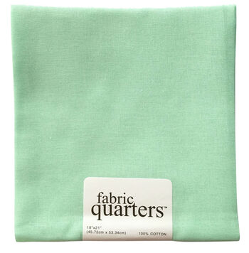 "Fabric Quarters Cotton Fabric 18""-Mint Green"