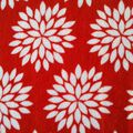 Ultra Fluffy Fabric- Mums Red