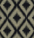 Robert Allen @ Home Upholstery Fabric 54\u0022-Ikat Fret Charcoal