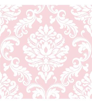 WallPops®NuWallpaper™ Pink Ariel Damask Peel And Stick Wallpaper