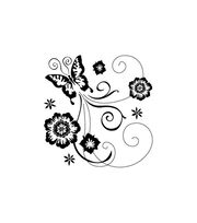 Inkadinkado® Mini Clear Stamps-Butterfly Scroll, , hi-res