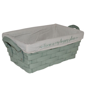 Farm Storage Non Woven Bin with Liner-Green Home is My Happy Place