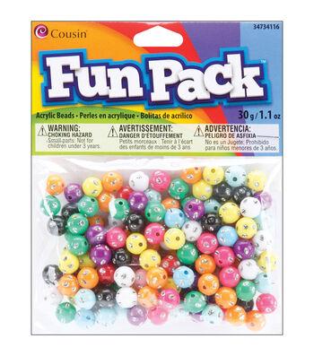 Fun Pack Pony Beads W/Rhinestone Mix 30 Grams/Pkg-
