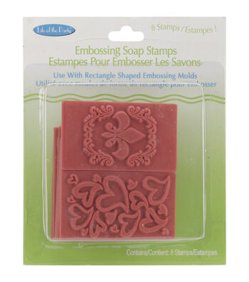 Embossing Soap Stamps 8/Pkg-Rectangle