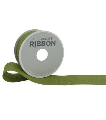 """Decorative Ribbon 1.5"""" Burlap Ribbon-Moss Green"""