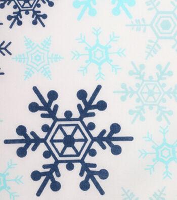 Holiday Showcase™ Christmas Cotton Fabric 43''-Snowflakes on White