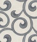 Williamsburg Upholstery Fabric 54\u0022-Hampton Scroll/Smoke