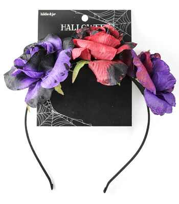 hildie & jo™ Halloween Headband with Dark Roses-Multi