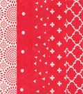 Charm Pack Cotton Fabric 30 Strips 5\u0027\u0027-Assorted Red Patterns