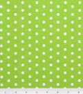 Tutti Fruitti Fabric 44\u0022-Polka Dot Lime and White