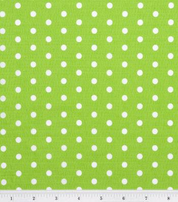 "Tutti Fruitti Fabric 44""-Polka Dot Lime and White"