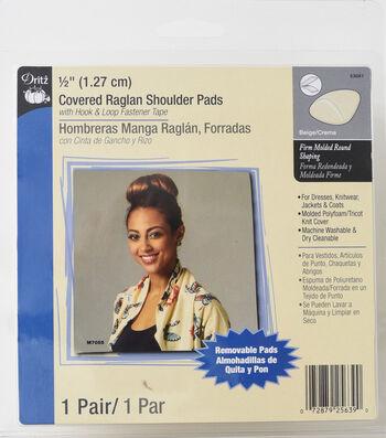 """Dritz 1/2"""" Covered Raglan Shoulder Pads"""