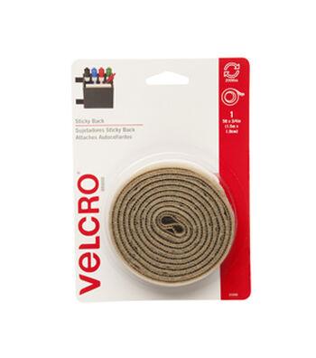 """VELCRO® Brand Sticky Back Tape, 3/4""""x5' - Beige"""