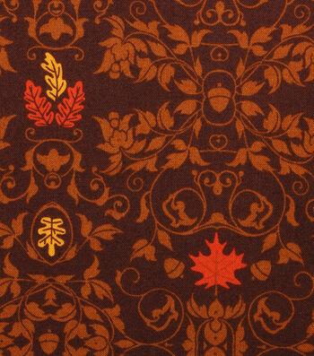 "Holiday Showcase™ Harvest Cotton Fabric 43""-Leaf Scrolls"