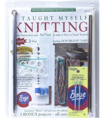 I Taught Myself Knitting Kit-Beginners Knitting Book