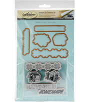 Spellbinders Stamp & Die Set-Happiness, , hi-res