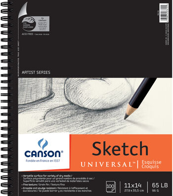 """Canson Universal Sketch Paper Pad 11""""X14"""""""