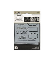 FolkArt® 3 Pack 3''x3'' Stencils-Fairy Signs, , hi-res
