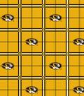 University of Missouri Tigers Flannel Fabric 42\u0022-Plaid