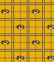 "University of Missouri Tigers Flannel Fabric 42""-Plaid, , hi-res"