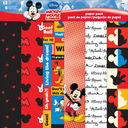 "Sandylion Disney® Mickey&Friends Paper Pack 12""x12"", , hi-res"