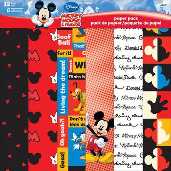 "Sandylion Disney® Mickey&Friends Paper Pack 12""x12"""