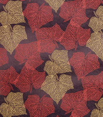 "Harvest Cotton Fabric 43""-Packed Modern Leaves"