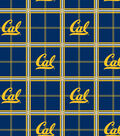 University of California, Berkeley Golden Bears Flannel Fabric 42\u0022-Plaid