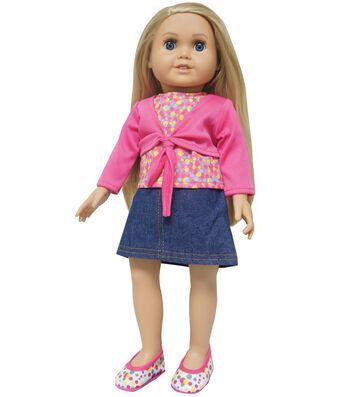Springfield Boutique Blue Denim Skirt, Top & Shoes