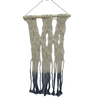 Seaport Macrame Wall Decor-Blue Ombre