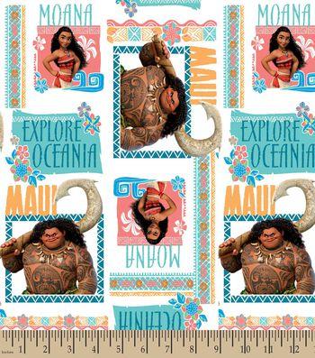 Moana Explore Oceania Print Fabric
