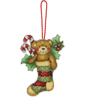 "Bear Ornament Counted Cross Stitch Kit-3.2""X4.5"""