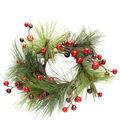 Blooming Holiday 3.25\u0027\u0027 Pine With Berries Wreath